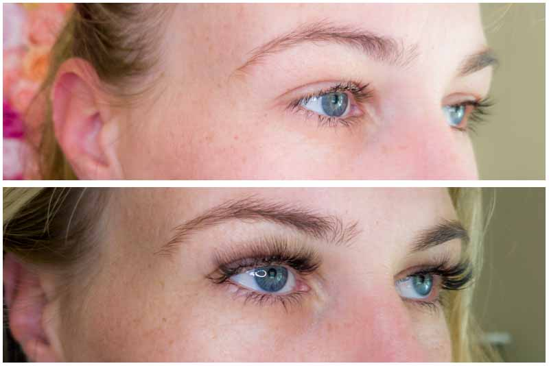 lash extensions before and after